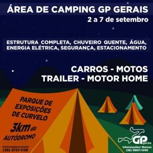 Área de camping é opção de hospedagem para equipes e espectadores do GP Gerais - Crédito: Divulgação / Y.Sports