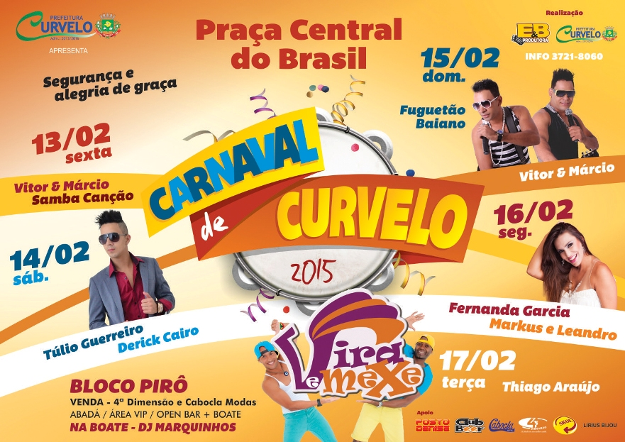 Cartaz Carnaval de Curvelo 2014