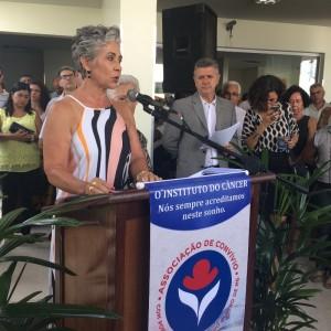 Dra. Sandra Lopes em pronunciamento na solenidade de inauguração - Foto: Karla Araújo